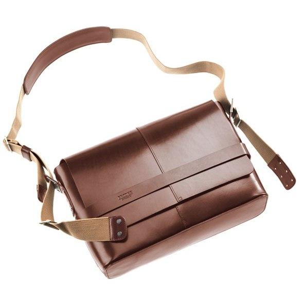Brooks Barbican Hard Leather Shoulder Bag - brown