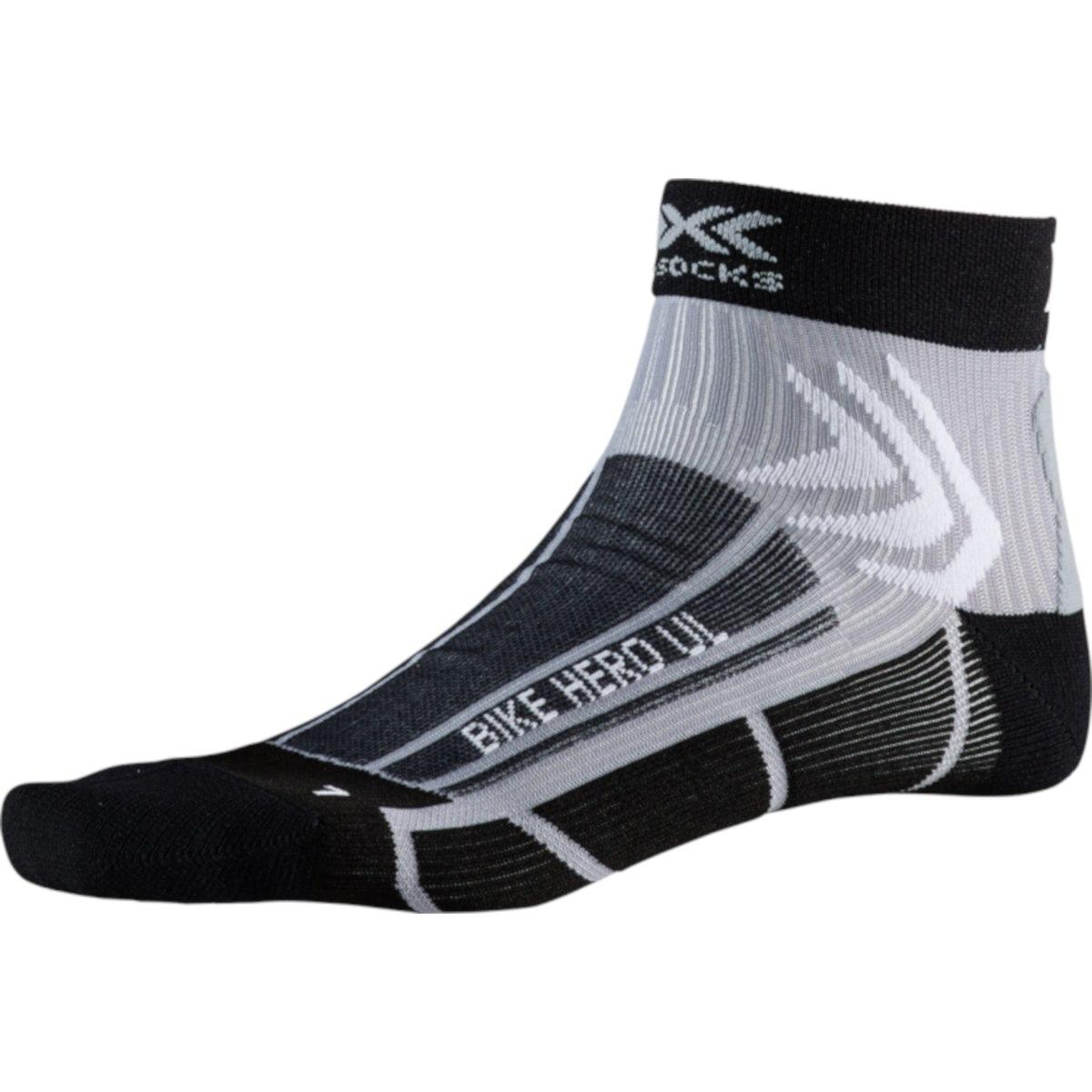 X-Socks Bike Hero UL Socken - opal black/dolomite grey