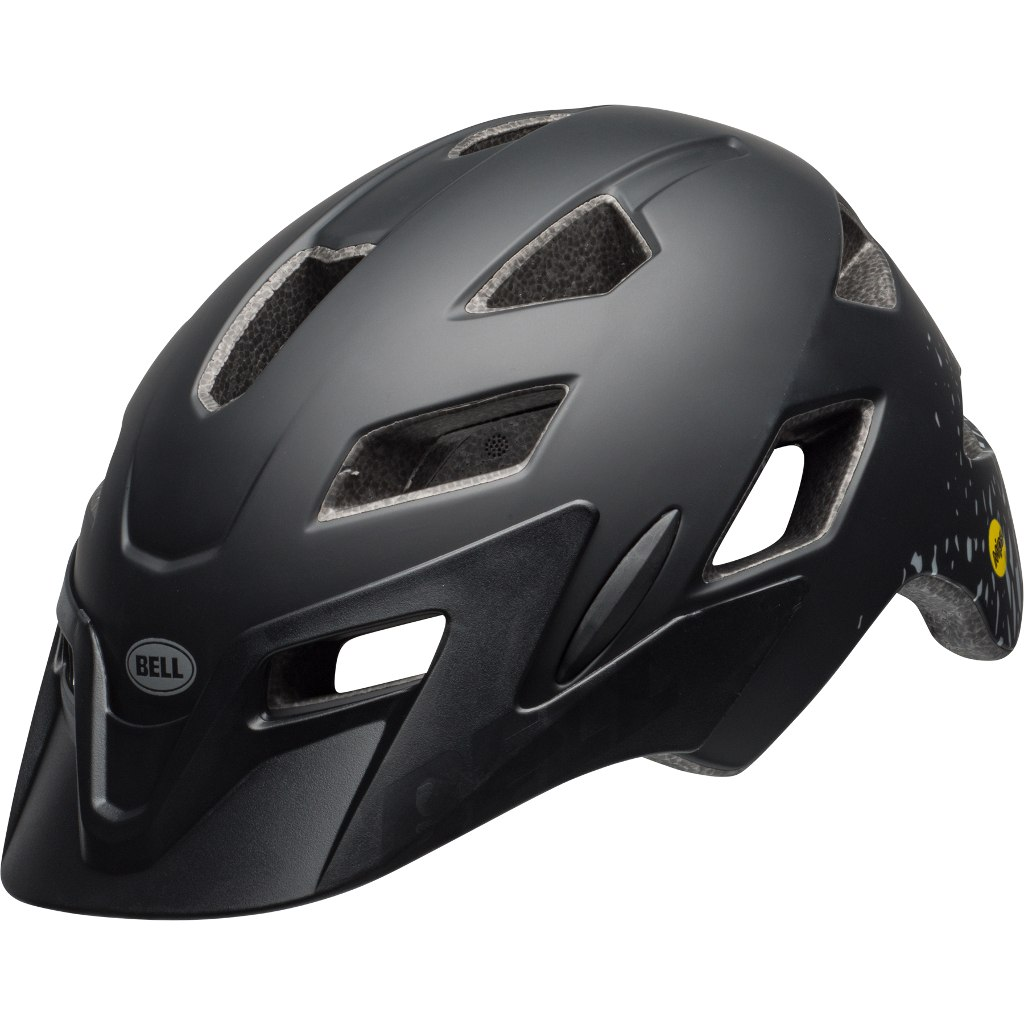 Bell Sidetrack Youth MIPS Helmet UY (50-57 cm) - matte black/silver fragments