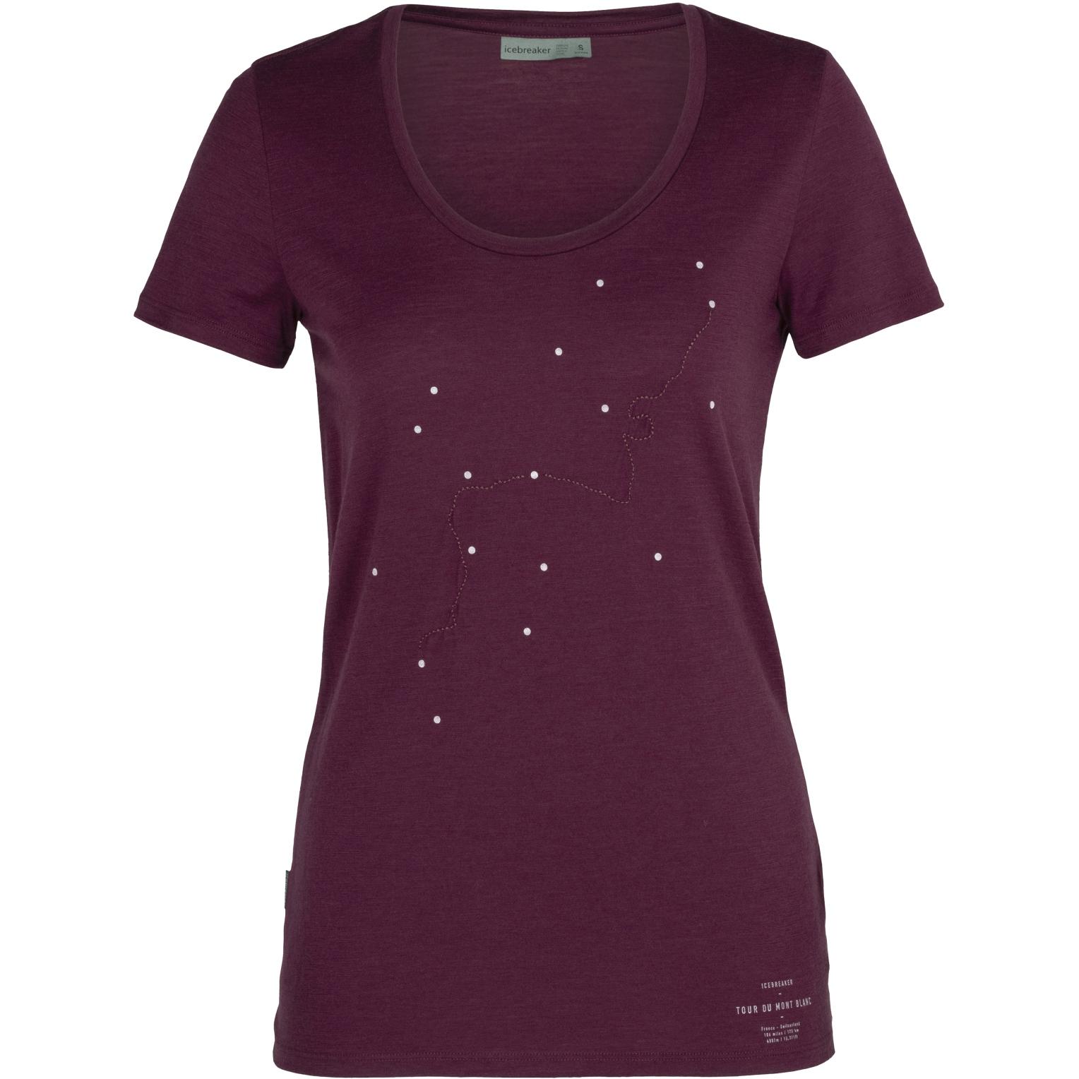 Produktbild von Icebreaker Tech Lite Scoop Tour Du Mont Blanc Damen T-Shirt - Brazilwood
