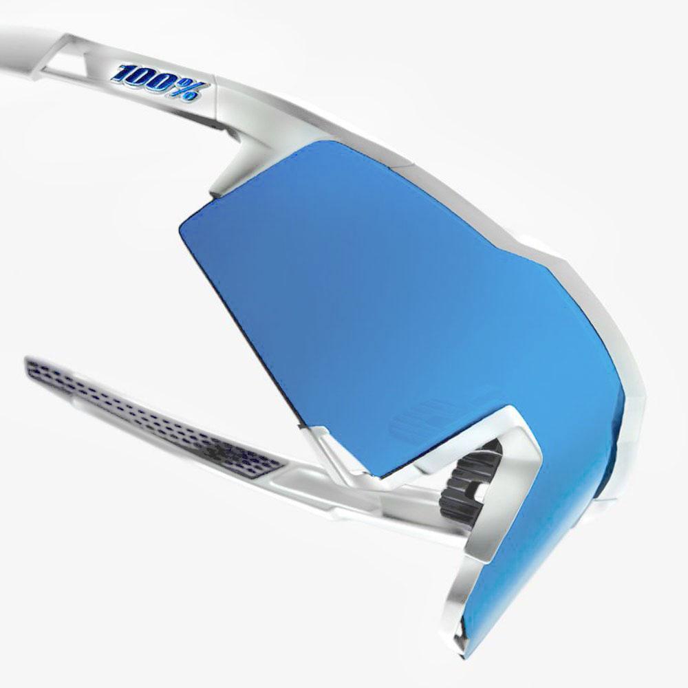 Imagen de 100% Speedcraft - Tall - HiPER Mirror Gafas - Matte White/Blue Multilayer + Clear