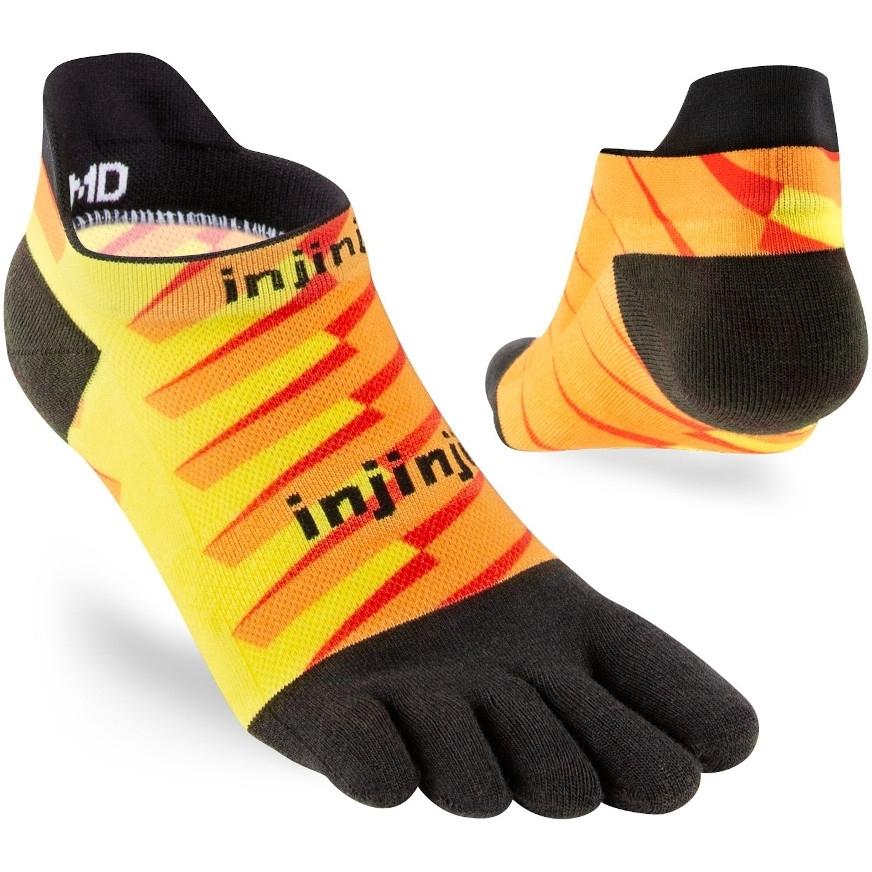 Injinji Run Lightweight No-Show Coolmax Socken - lightning