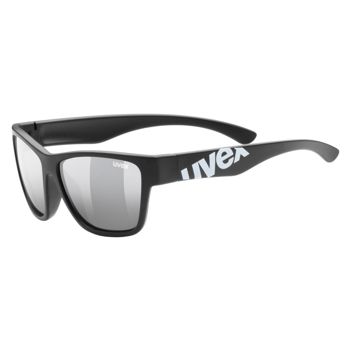 Uvex sportstyle 508 Kinderbrille - black mat/litemirror silver