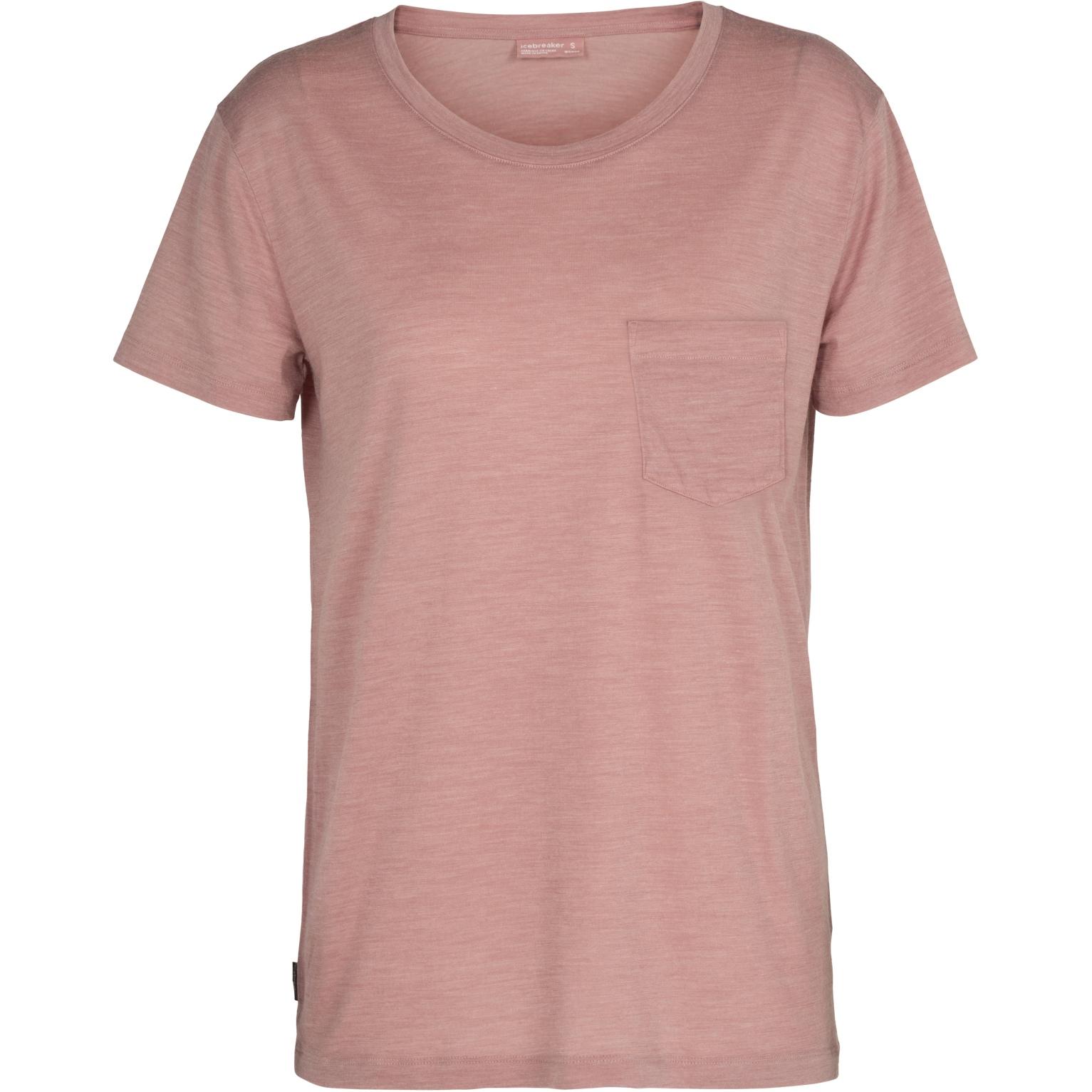 Bild von Icebreaker Nature Drayden Dye Pocket Crewe Damen T-Shirt - Heart