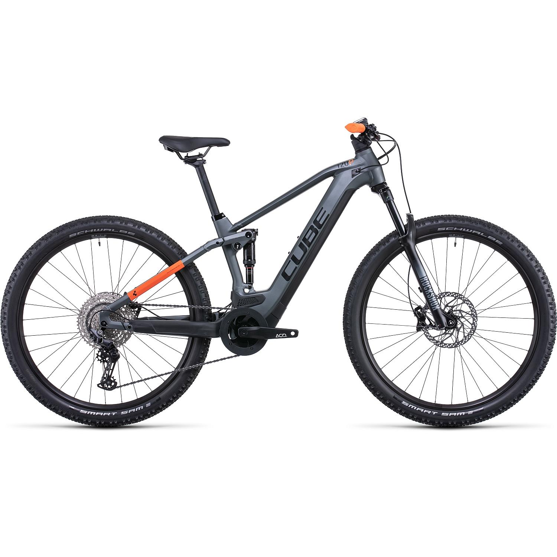 CUBE STEREO HYBRID 120 Pro 625 - Bicicleta Eléctrica de Montana - 2022 - flashgrey/orange A00