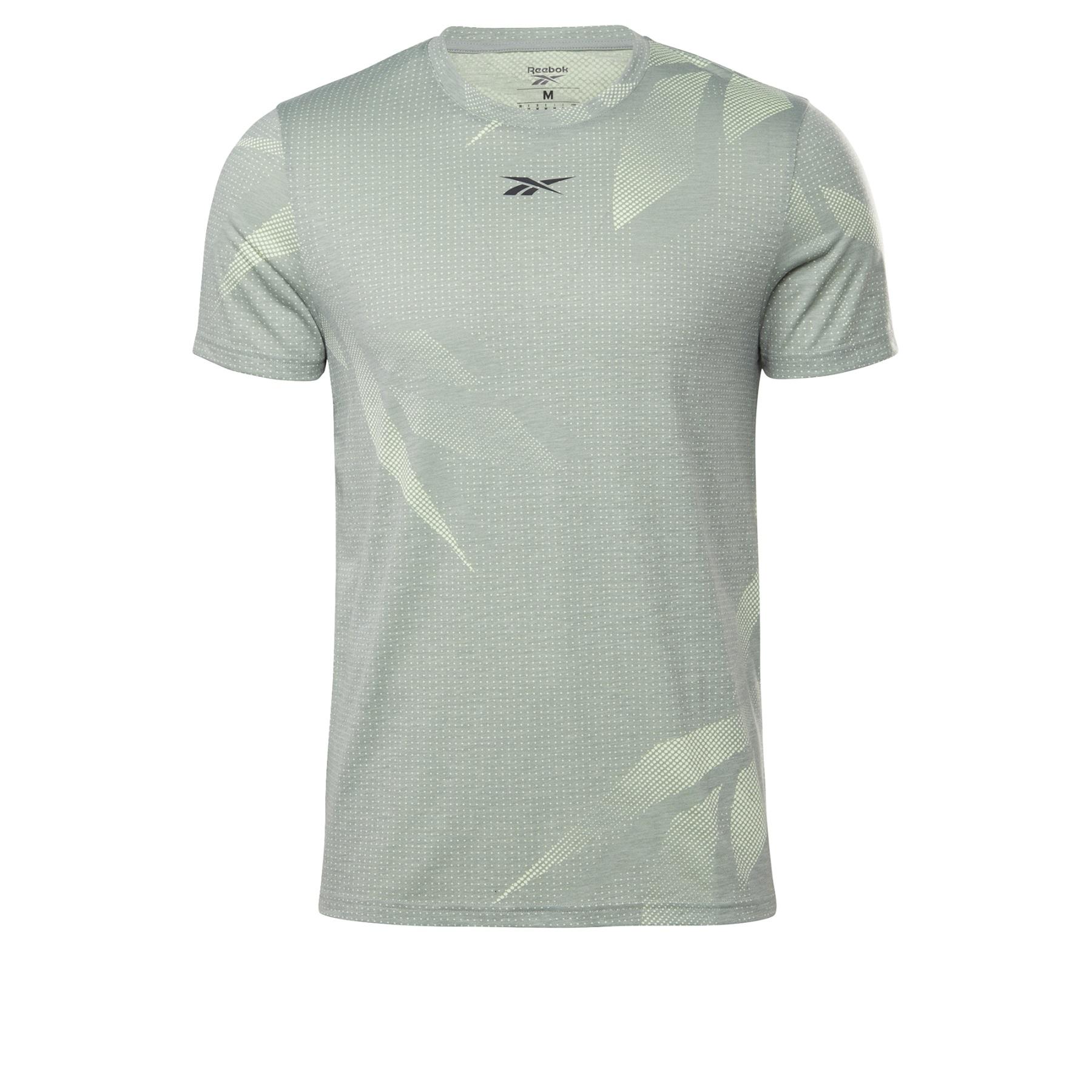 Foto de Reebok Workout Ready Allover Print Camiseta - harmony grey GJ0660