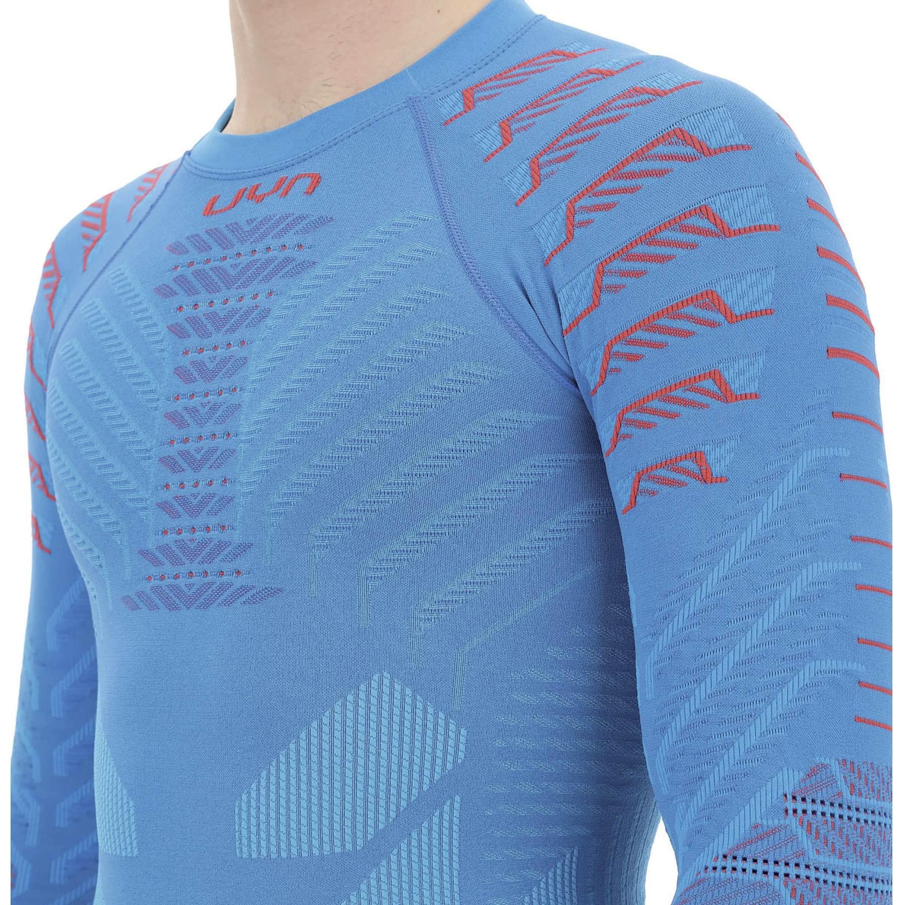 Image of UYN Resilyon Longsleeve Undershirt Round Neck - Blue/Red
