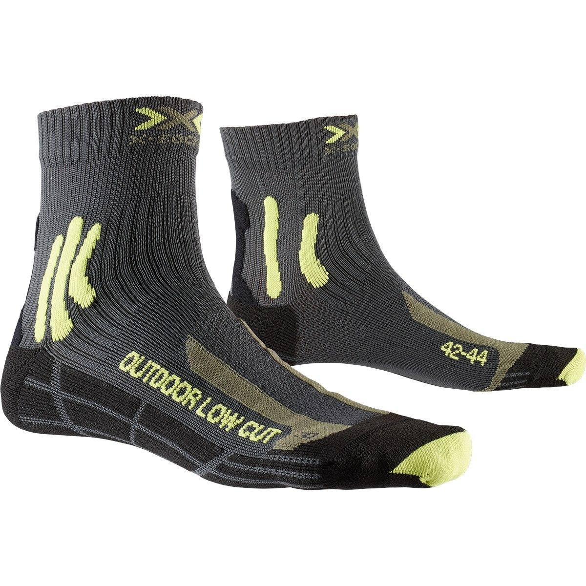 X-Socks Trek Outdoor Low Cut Socken - anthracite/lime