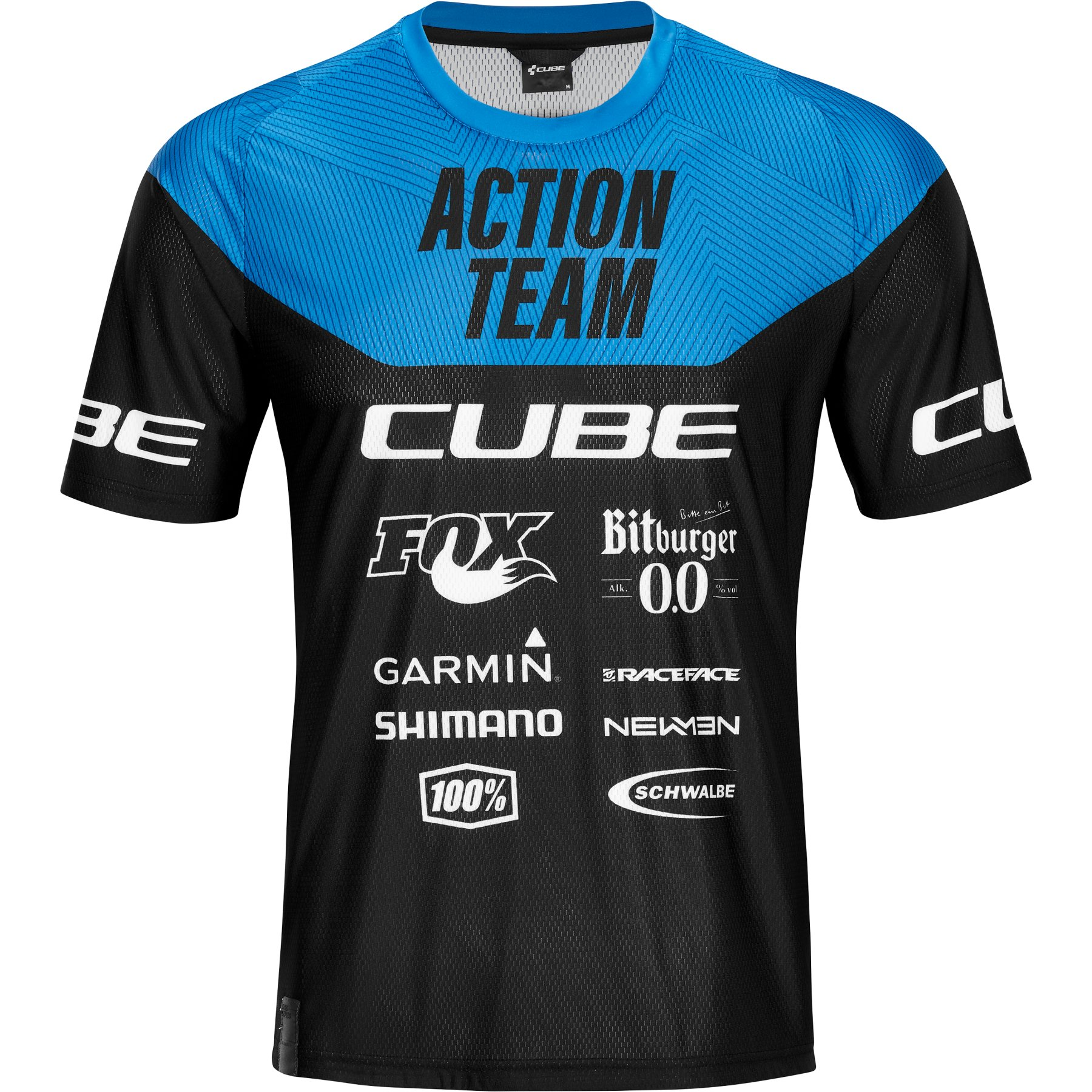 Picture of CUBE EDGE Round-Neck X Actionteam Shortsleeve Jersey - black'n'blue