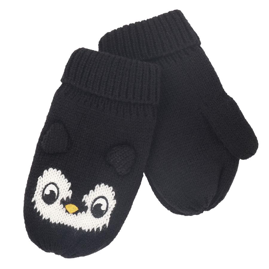 Picture of Regatta Animally Mitts III Kids - Black Penguin