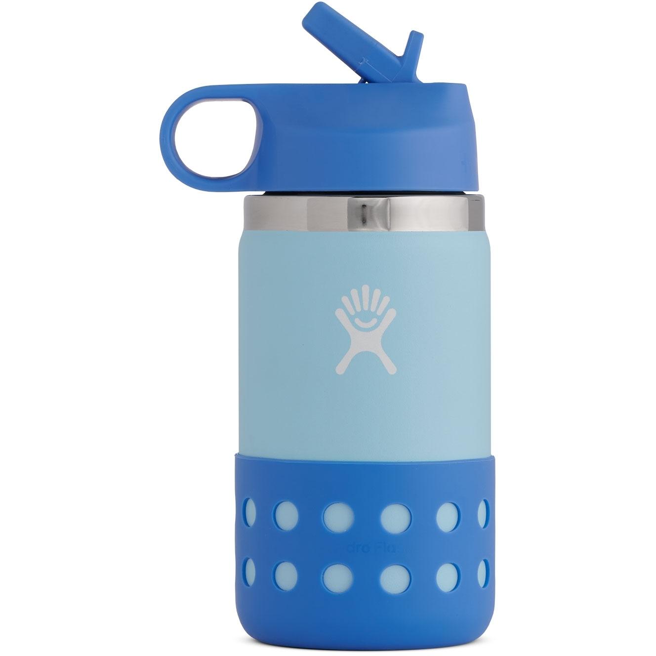 Produktbild von Hydro Flask 12 Oz Kids Wide Mouth Straw Lid & Boot Thermoflasche - 355 ml - Ice