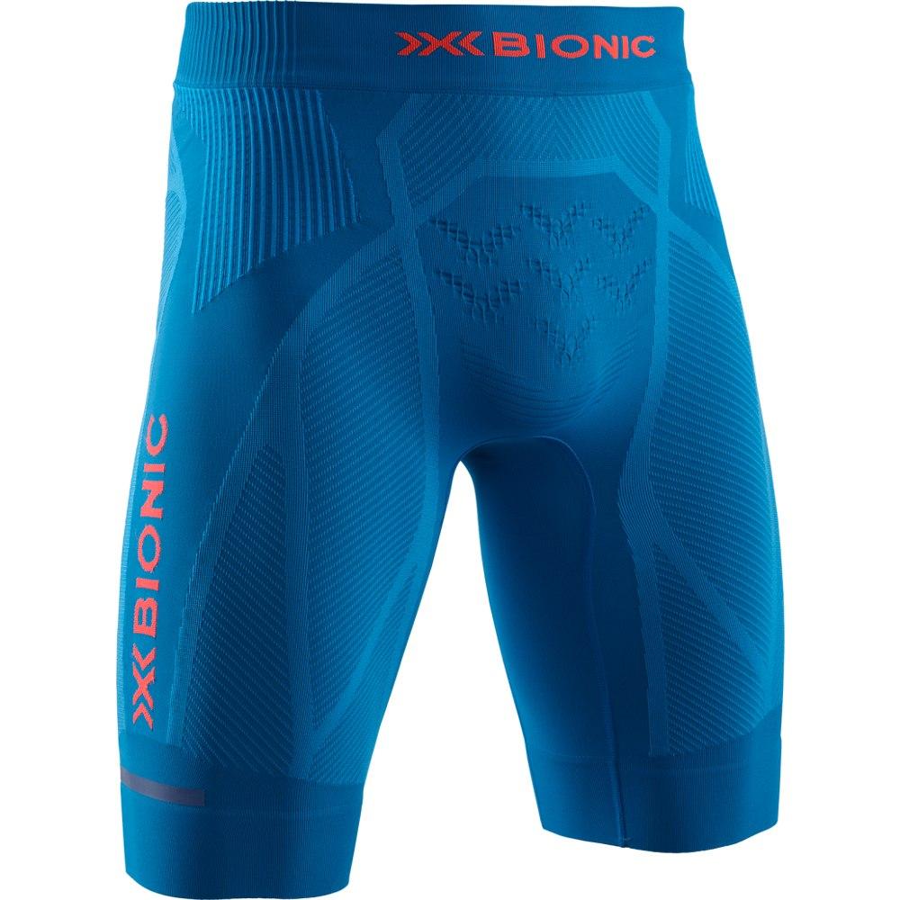 X-Bionic The Trick G2 4.0 Run Shorts Laufhose für Herren - teal blue/kurkumu orange