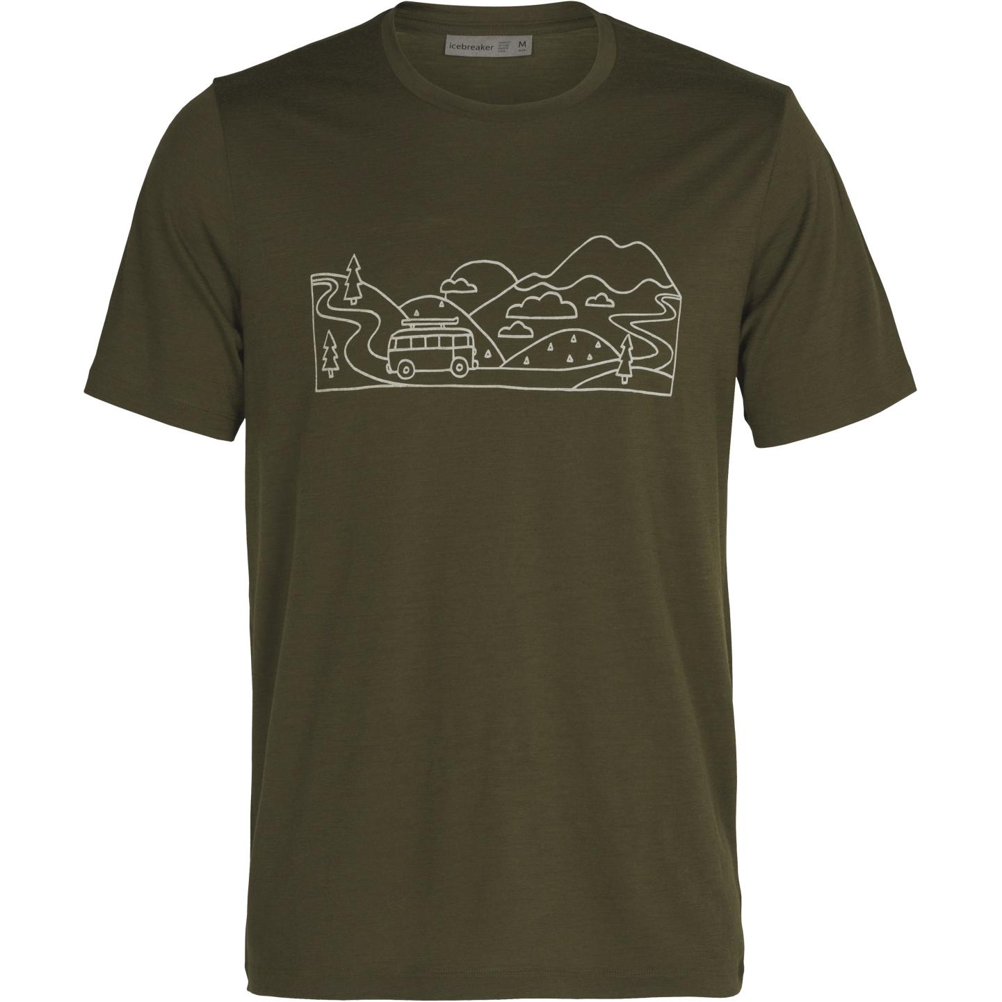 Produktbild von Icebreaker Tech Lite II Combi Ski Trip Herren T-Shirt - Loden