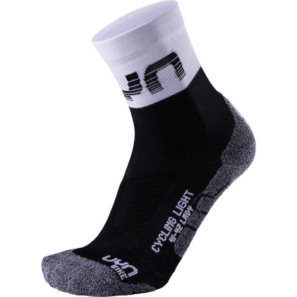 UYN Cycling Light Socken Damen - Schwarz/Weiß