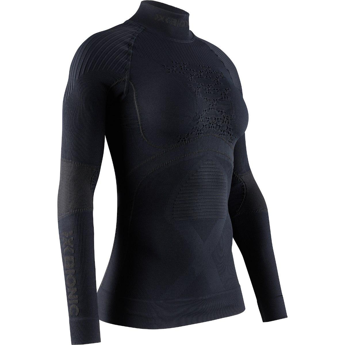 X-Bionic Energy Accumulator 4.0 Turtle Neck Langarm-Unterhemd für Damen - black/black