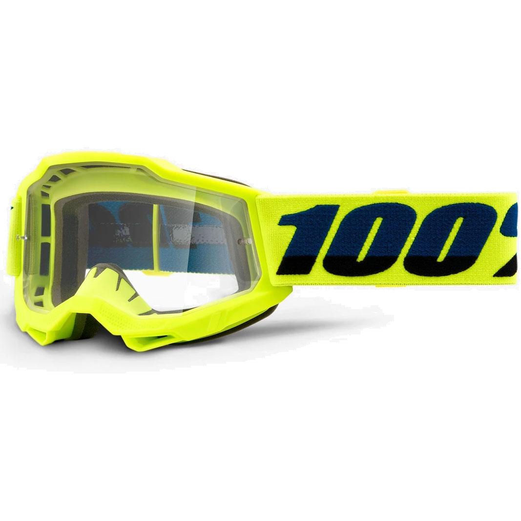 Imagen de 100% Accuri 2 Goggle Mirror Lens Gafas para niños - Fluo Yellow - Gold Mirror