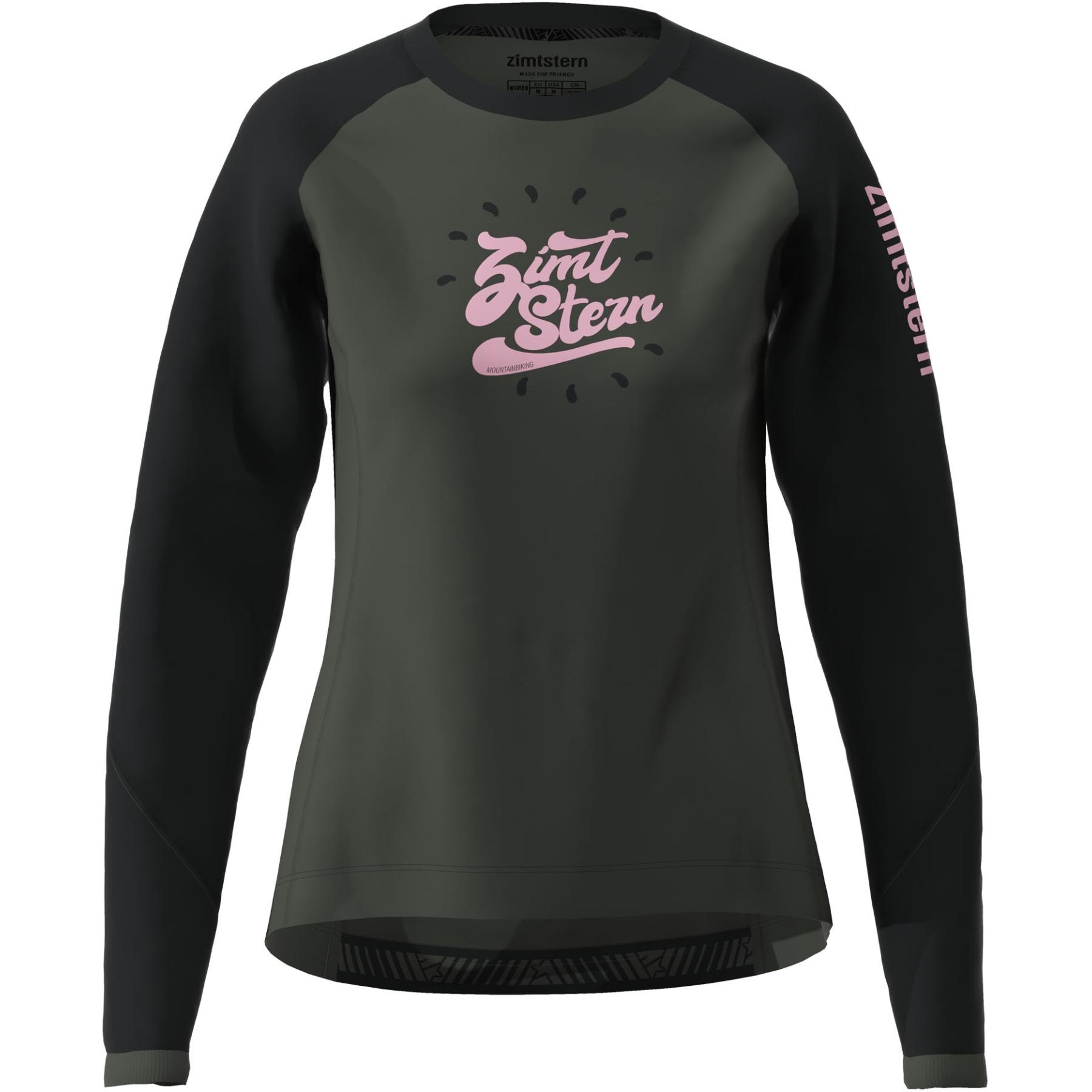 Zimtstern PureFlowz Langarm-Shirt Damen - gun metal/pirate black