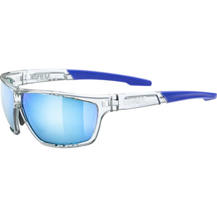 Uvex sportstyle 706 Brille - clear/mirror blue