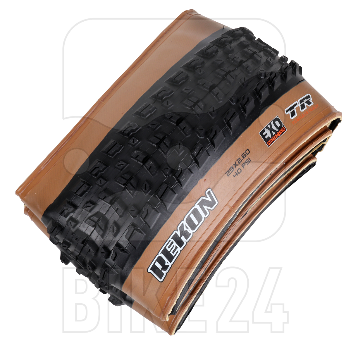 Picture of Maxxis Rekon MTB Folding Tire TR EXO WT Dual - 29x2.40 inches - Tanwall