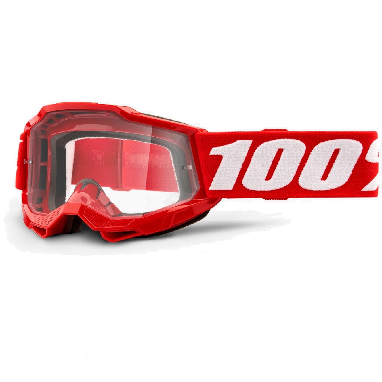 Imagen de 100% Accuri 2 Goggle Mirror Lens Gafas para niños - Neon Red - Pink Mirror