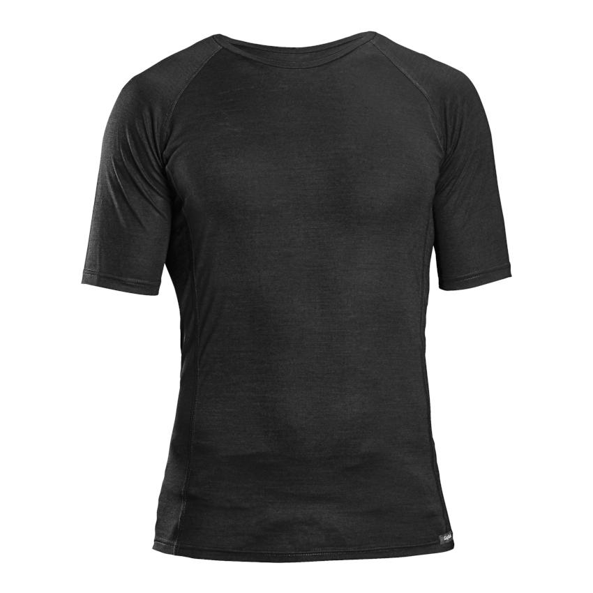 GripGrab Merino Polyfibre Short Sleeve Base Layer - Black