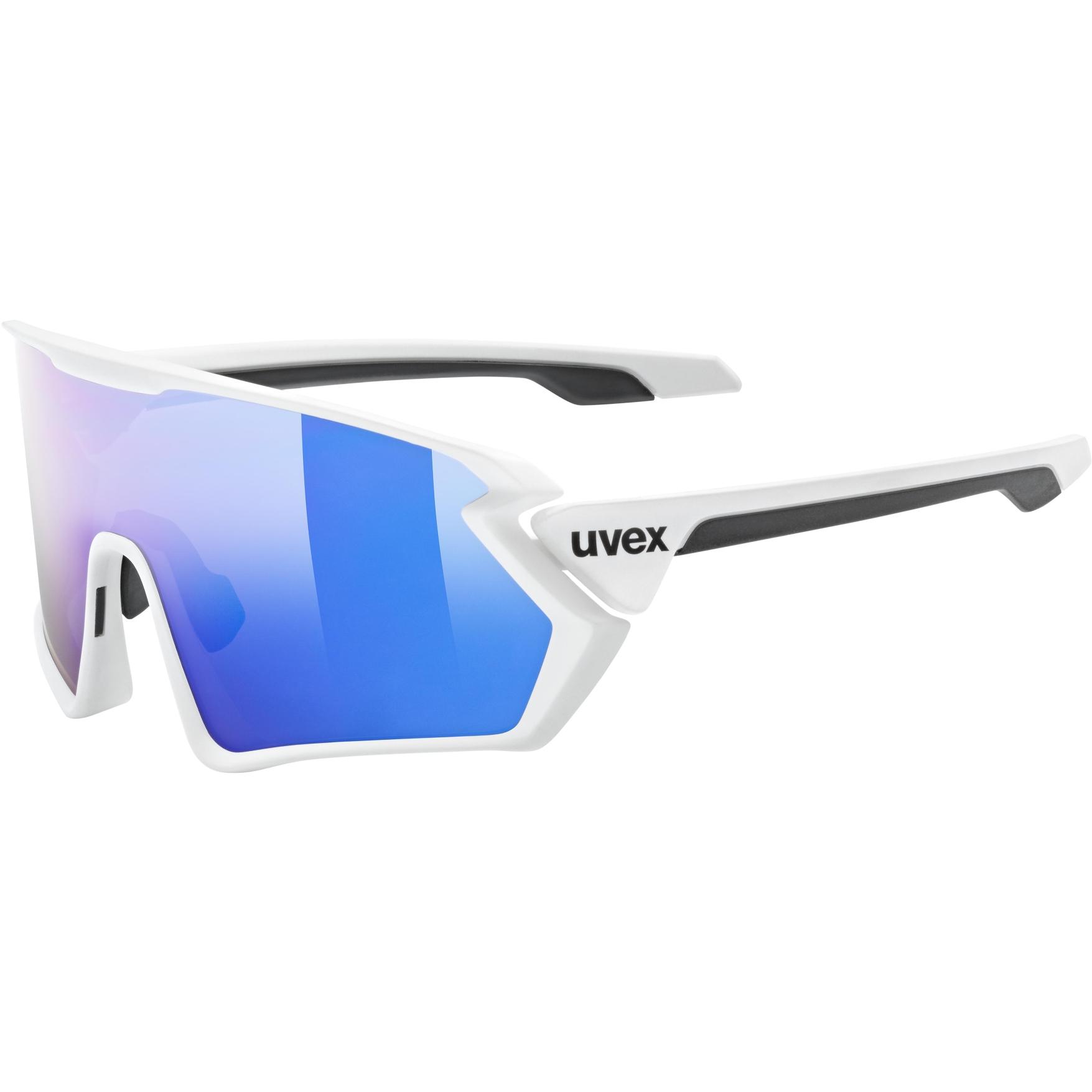 Uvex sportstyle 231 Glasses - white mat/mirror blue