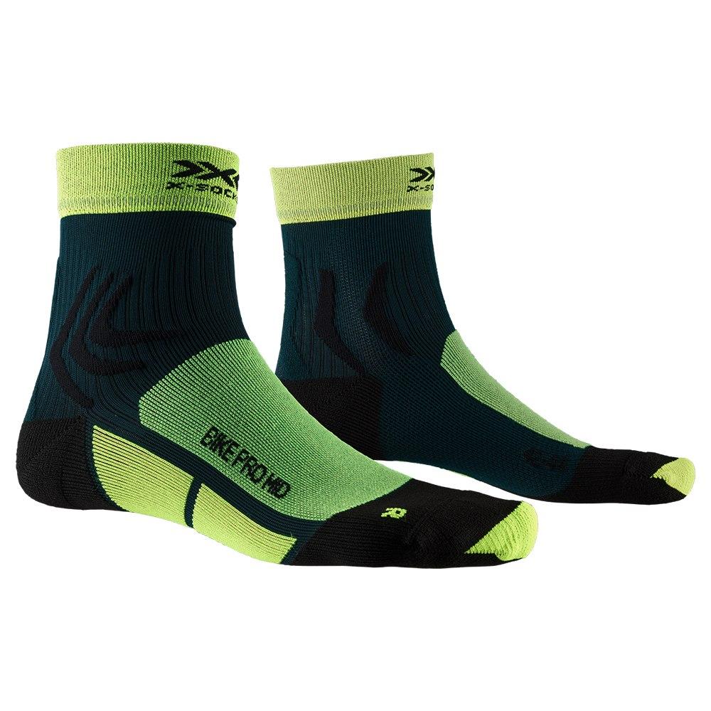 X-Socks Bike Pro Mid Socken - phyton yellow/pine green