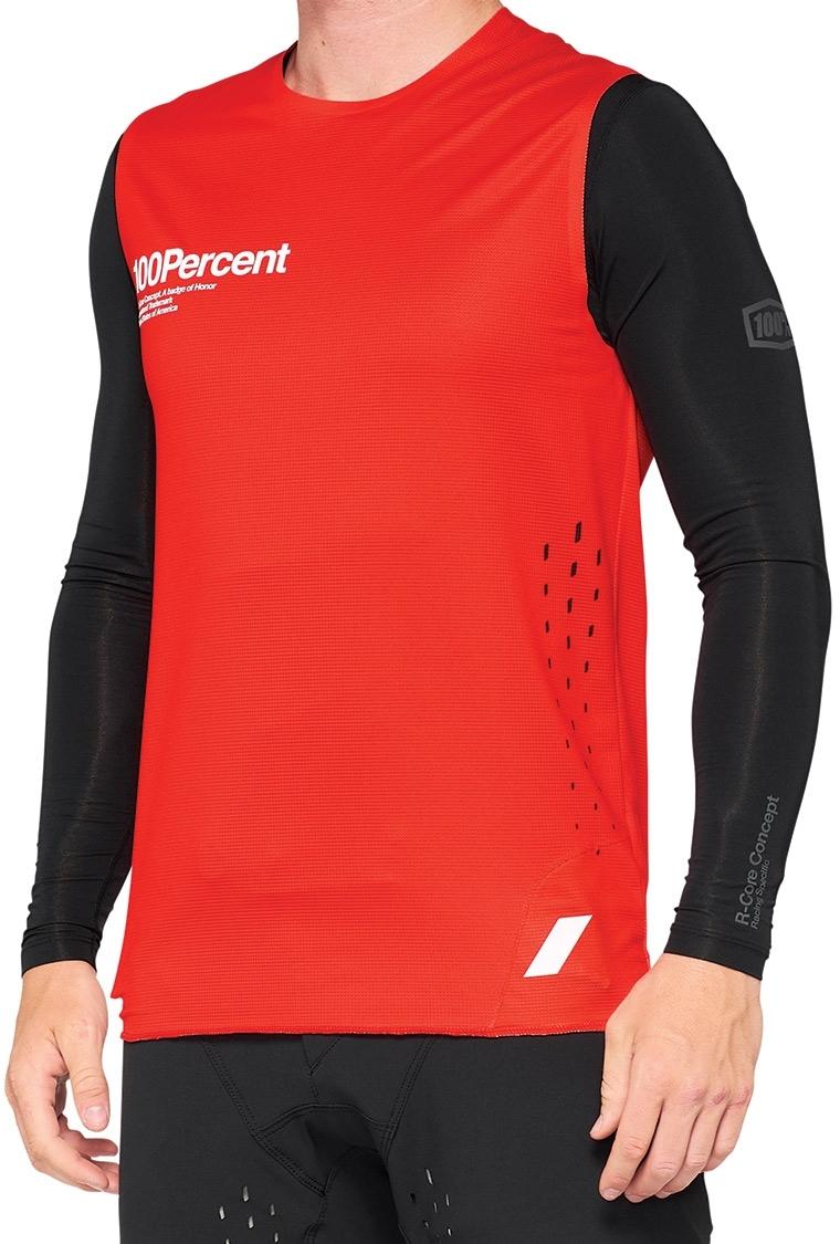 100% R-Core Concept Jersey sin mangas - rojo