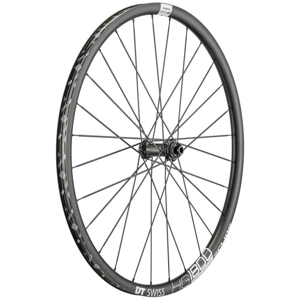 "DT Swiss HG 1800 Spline Black db 25 - 27.5"" Front Wheel - Clincher - Centerlock / 6 Bolt - 12x100mm"
