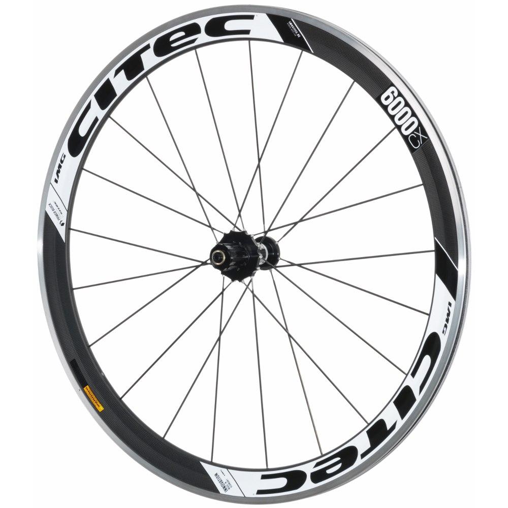 CITEC 6000 CX Carbon 28 Inch Rear Wheel - Clincher - white/black