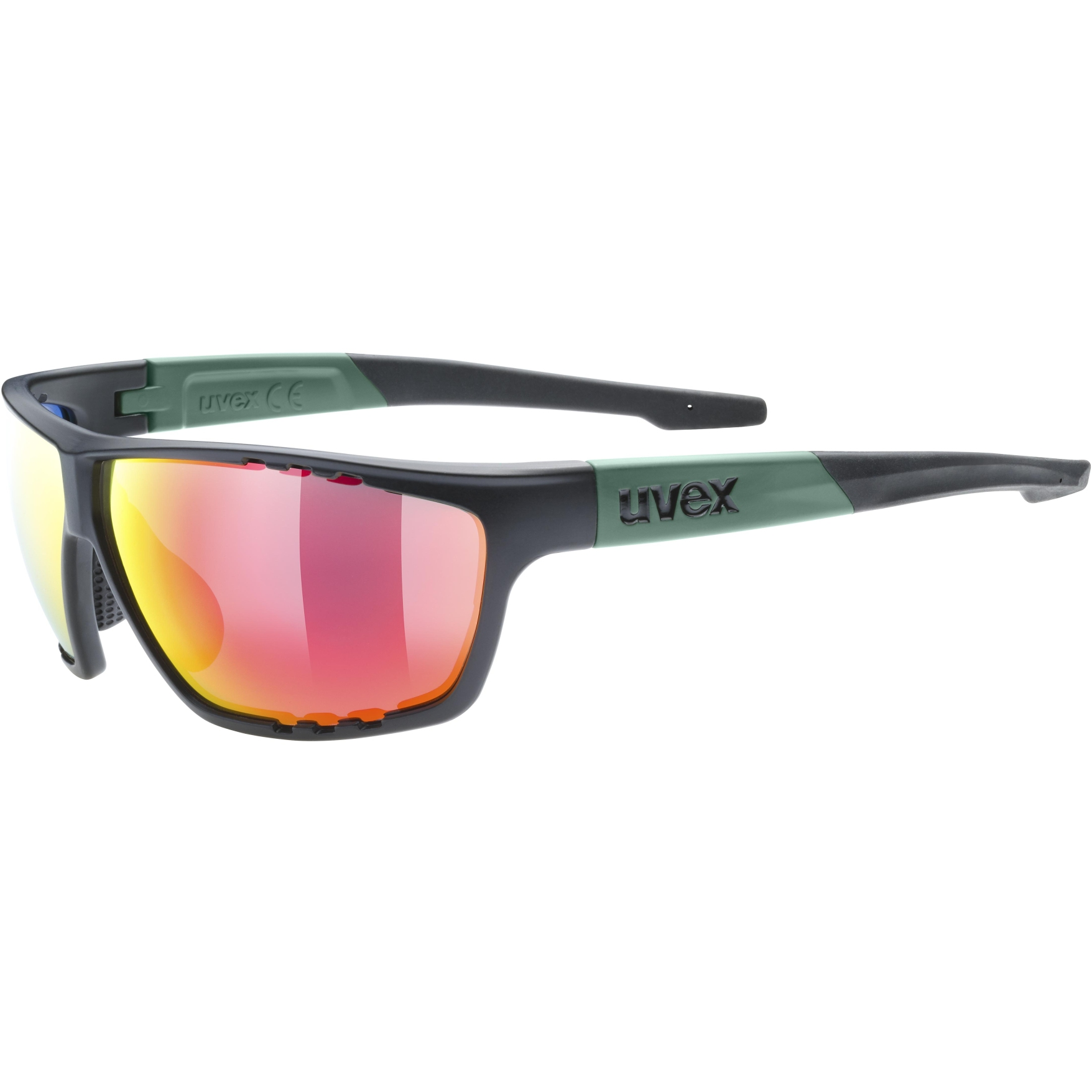 Uvex sportstyle 706 Glasses - black moss mat/mirror red