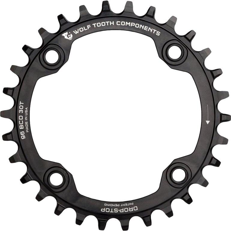 Bild von Wolf Tooth Single Kettenblatt 96mm für Shimano M782/M672/M622/M612 - Drop Stop - schwarz