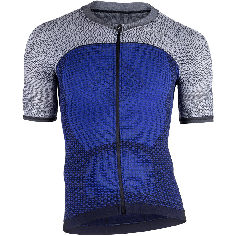 UYN Biking Alpha OW Shirt Short Sleeve - Medieval Blue/Sleet Grey