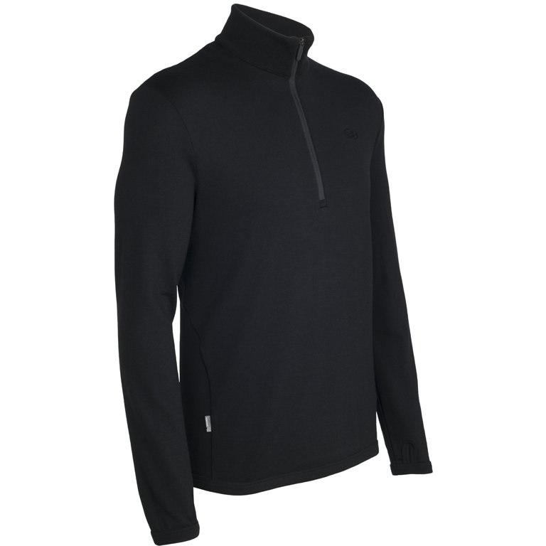Produktbild von Icebreaker Original Half Zip Herren Langarmshirt - Black