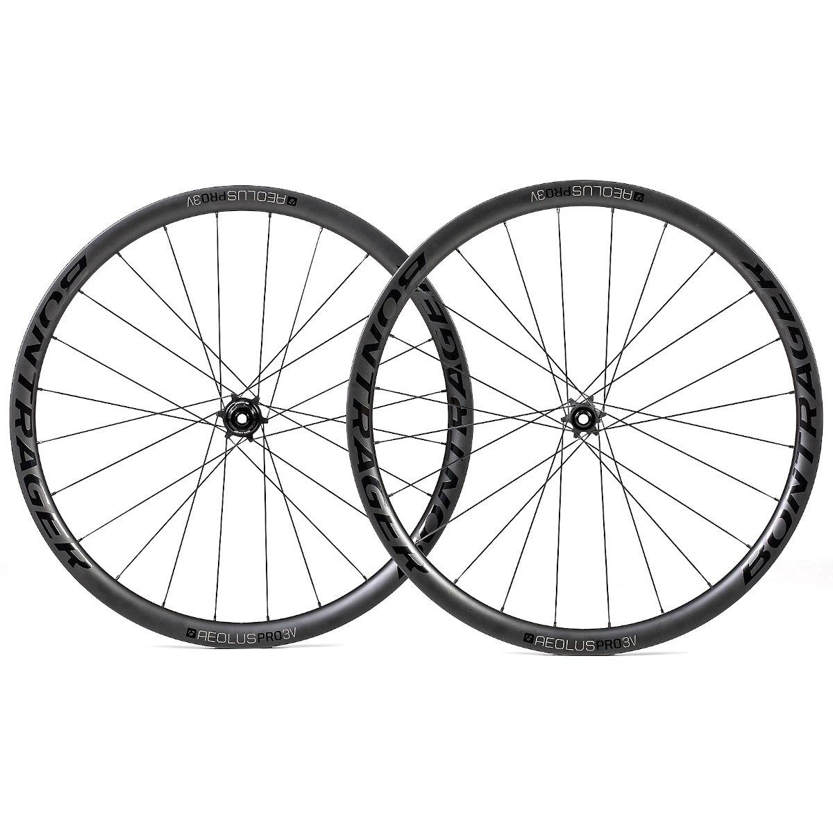 Bontrager Aeolus Pro 3V TLR Disc Road Wheelset - Clincher - Centerlock - FW: 12x100mm   RW: 12x142mm