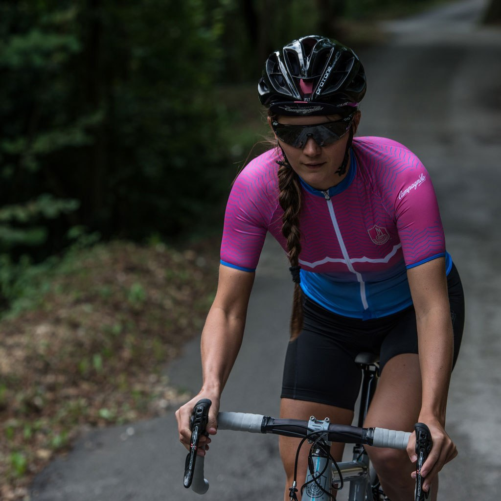 Image of Campagnolo Quarzo Women Jersey - Pink/Turquoise