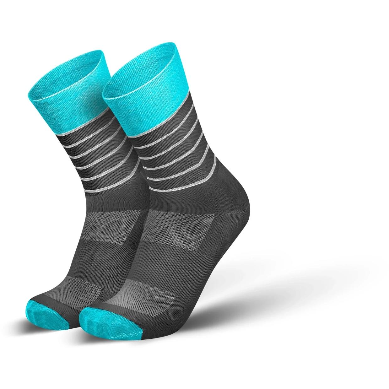 Produktbild von INCYLENCE Ultralight Stripes Socken - Cyan