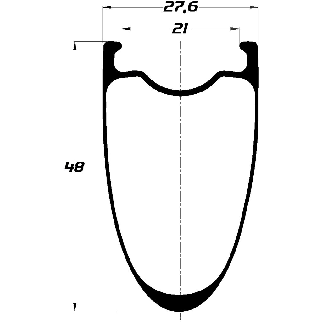 Image of DUKE Baccara 48C SLS2 Disc Clincher Rim - 2mm Offset - 21-622 - 28 Holes