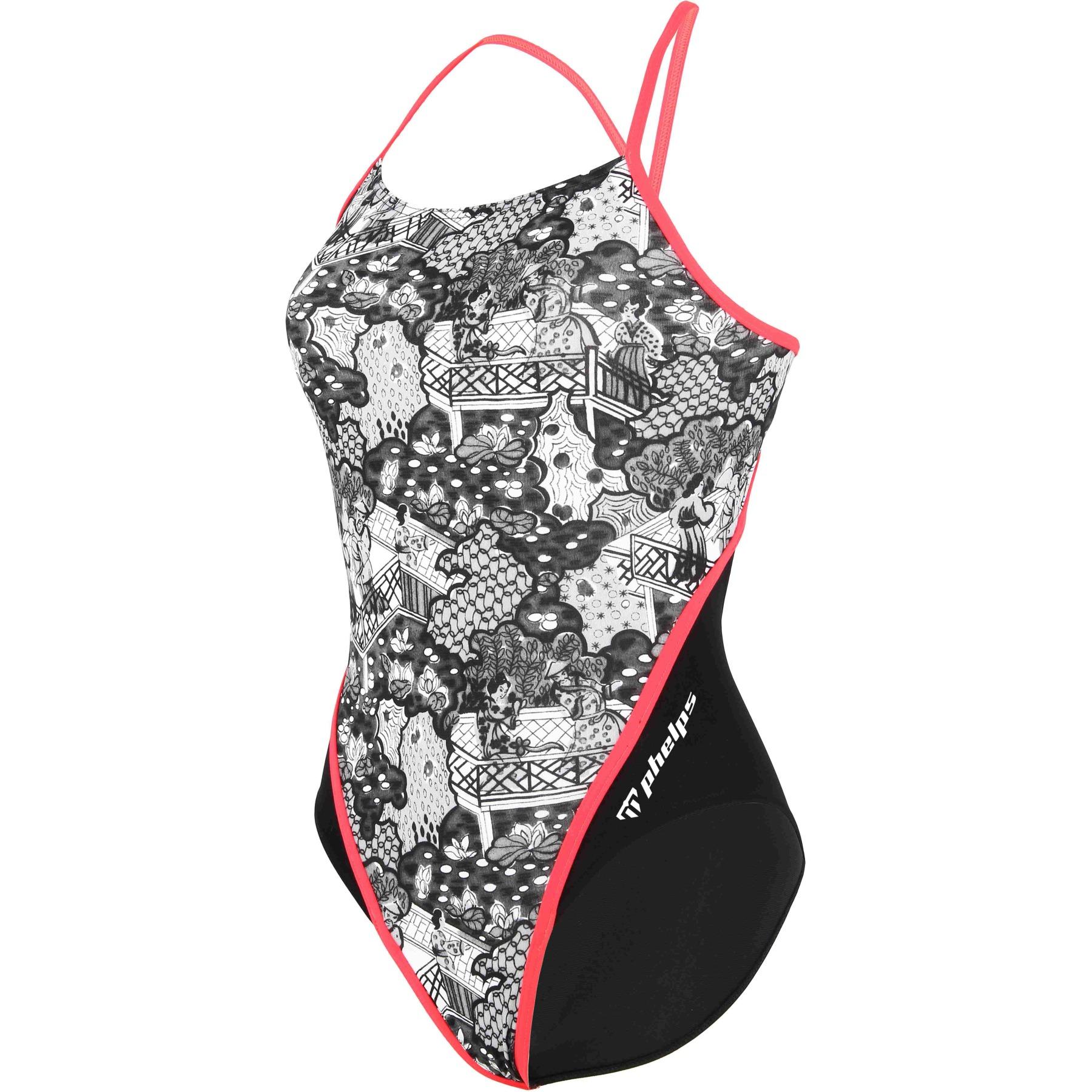 Phelps Elite Training KOKESHI Racing Back Damen Badeanzug - Multicolor/Black