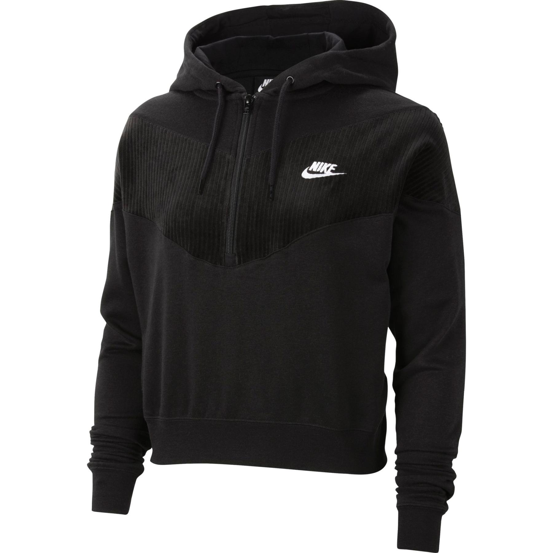Nike Sportswear Heritage Women's Half-Zip Longsleeve - black/white CZ1878-010