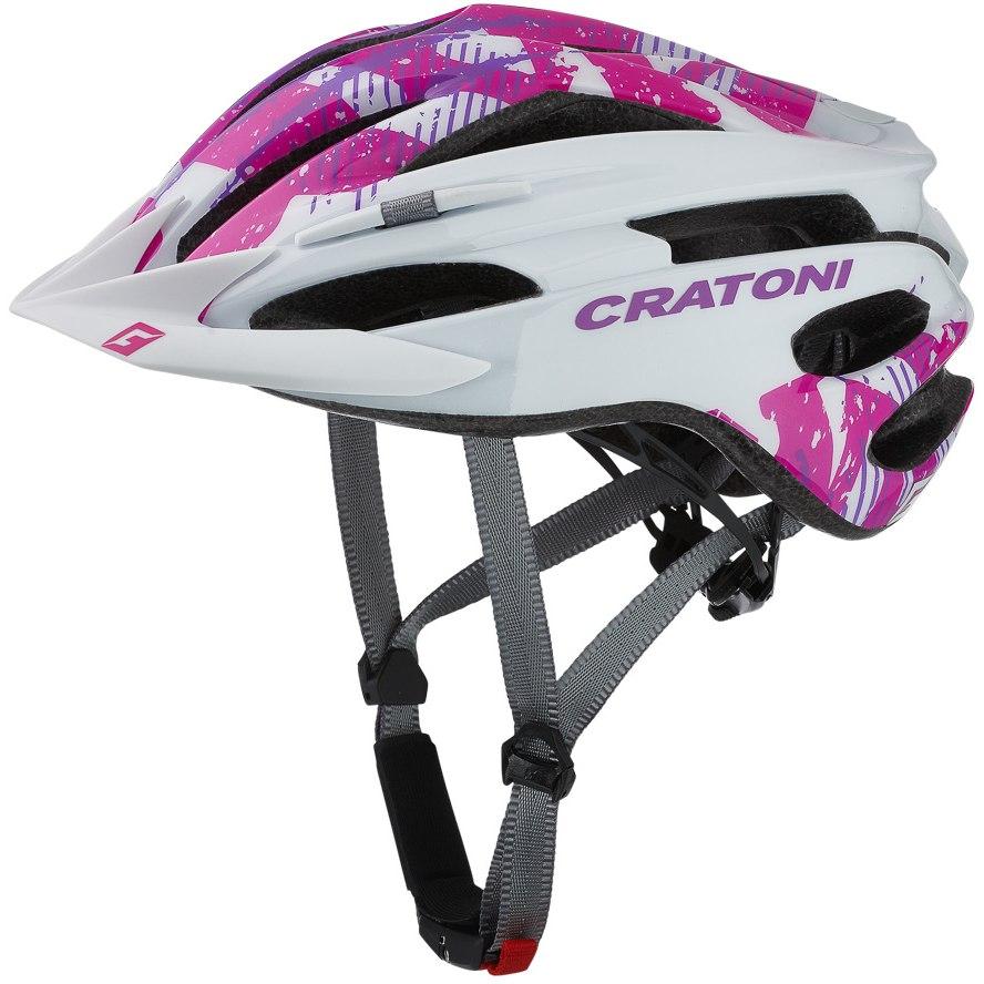 CRATONI Pacer Junior Helmet - white-pink glossy