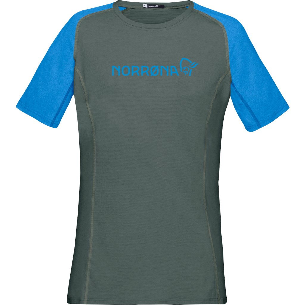 Norrona fjora equaliser lightweight T-Shirt Women - Castor Grey/Campanula