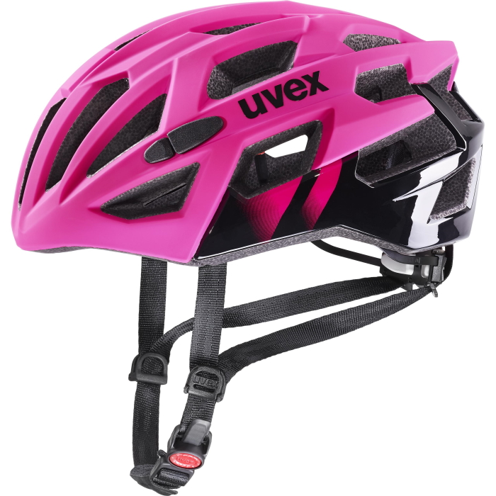 Uvex race 7 Helmet - rubin - black