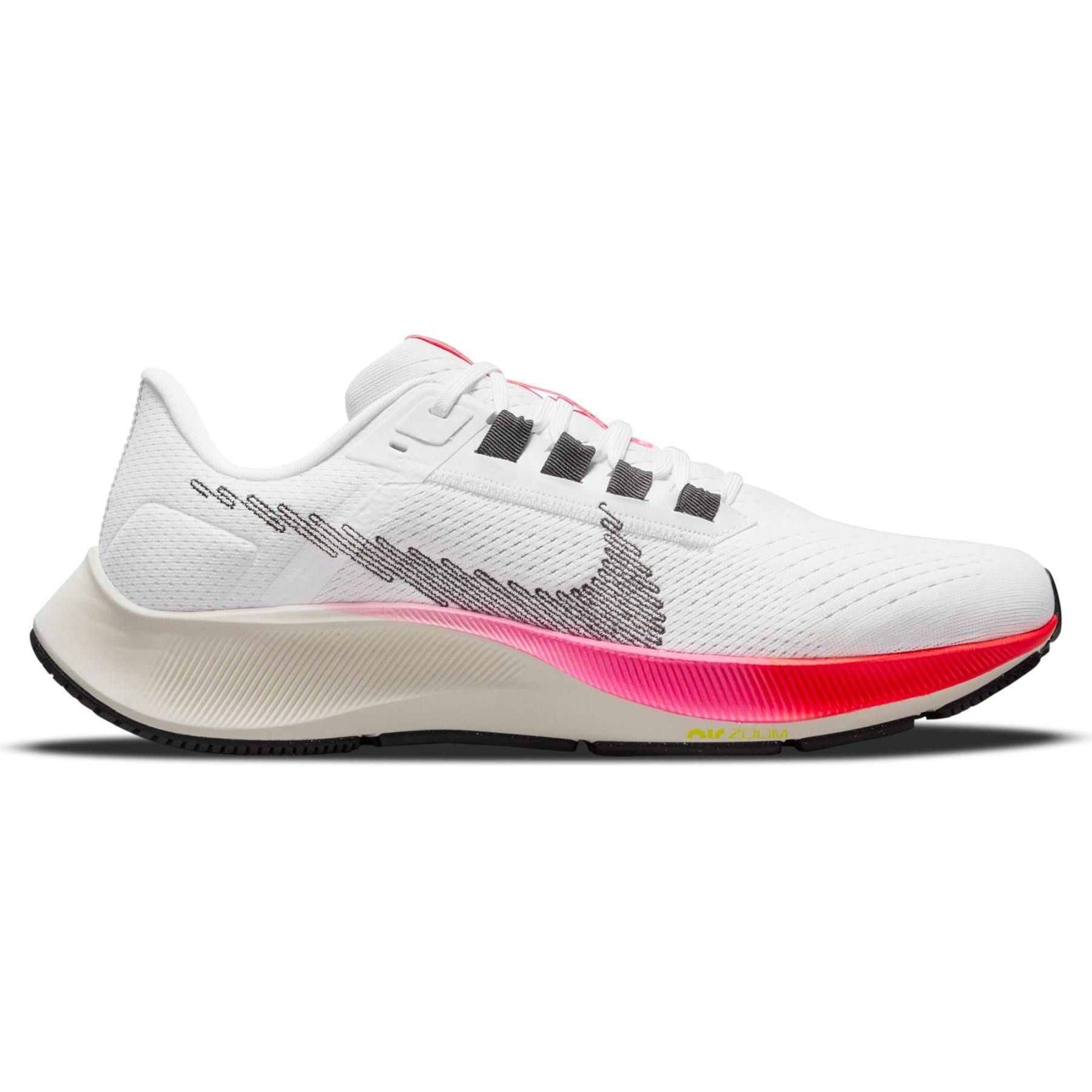 Nike Air Zoom Pegasus 38 Herren-Laufschuh - white/black-football grey-pink blast DJ5397-100