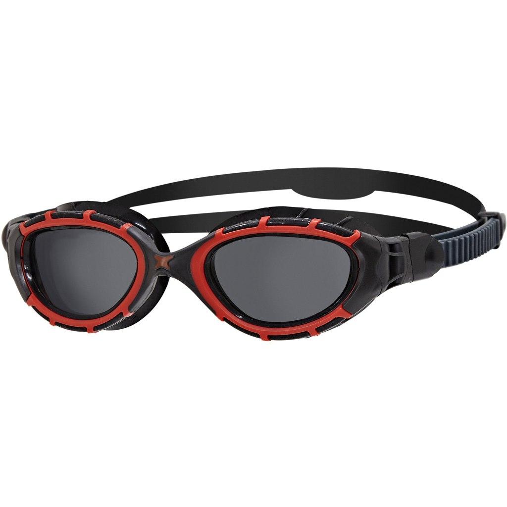Zoggs Predator Flex Polarized Schwimmbrille - Red/Black/Smoke