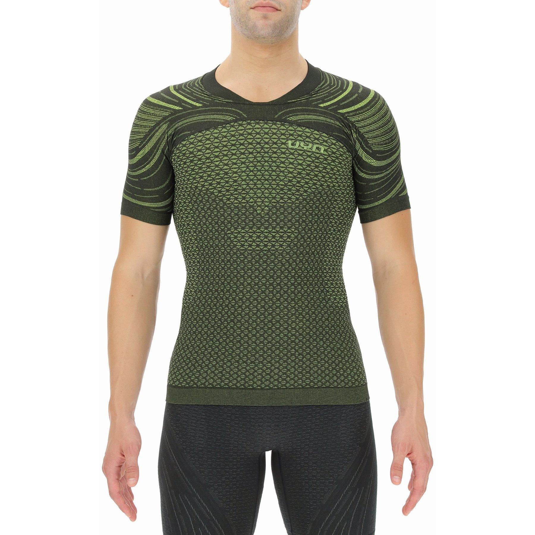 UYN Alpha Coolboost Running T-Shirt - Ultra Lime/Lizard