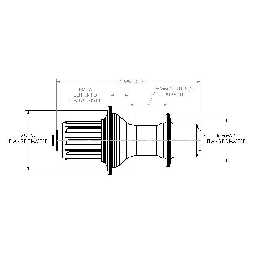 Bild von White Industries T11 Hinterradnabe - QR 10x130mm - Campagnolo Freilauf - schwarz