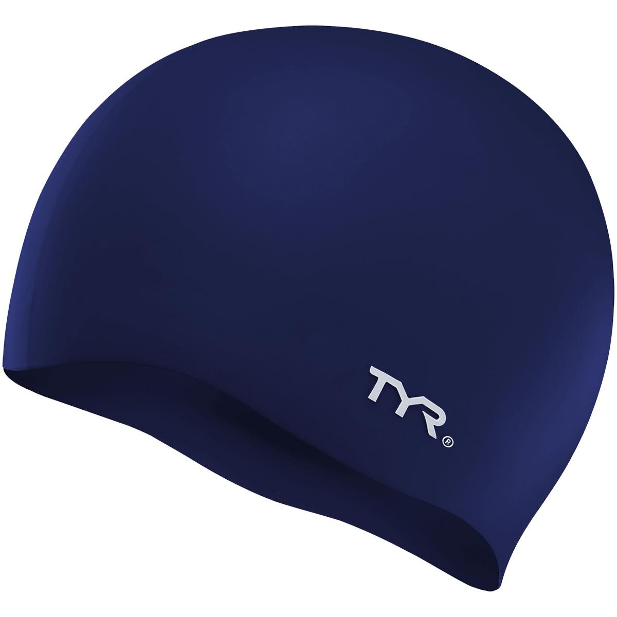 Produktbild von TYR Wrinkle-Free Silicone Adult Fit Badekappe - navy