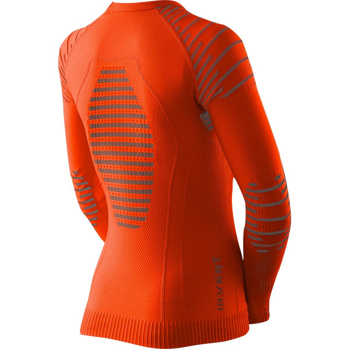 Bild von X-Bionic Invent 4.0 Shirt Round Neck Langarm-Unterhemd für Kinder - sunset orange/anthracite