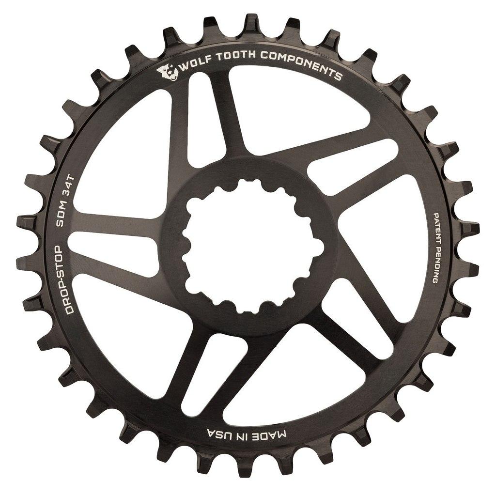 Wolf Tooth Direct Mount Kettenblatt für SRAM GXP / BB30 Long Spindle - Drop Stop - schwarz